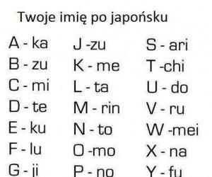 Twoje imię po japońsku