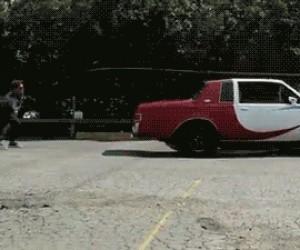 Auto na skakance