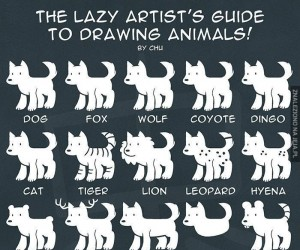 Rysowanie zwierząt dla leniwych