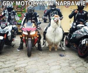 Gdy motocykl w naprawie