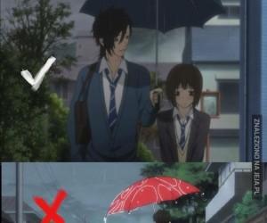 Jak iść pod parasolem z dziewczyną