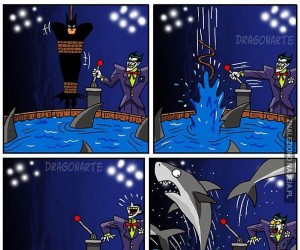 Nawet rekiny boją się Batmana