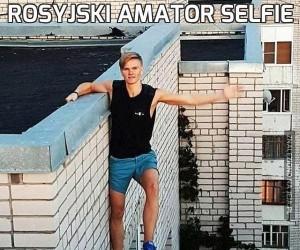 Rosyjski amator selfie