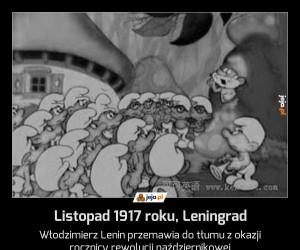 Listopad 1917 roku, Leningrad