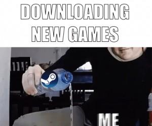 Ściąganie nowych gier ze Steama