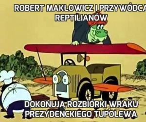 Robert Makłowicz i przywódca reptilianów