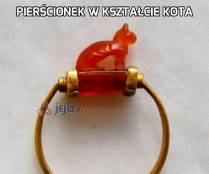 Pierścionek w kształcie kota