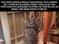 Własnoręczna replika Żelaznego Tronu