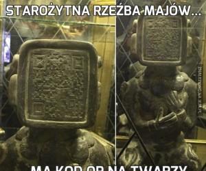 Starożytna rzeźba Majów...