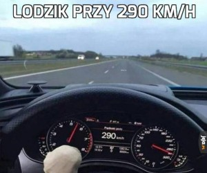 Lodzik przy 290 km/h