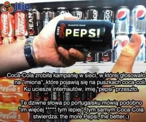 Coca-cola reklamuje pepsi?