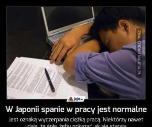 W Japonii spanie w pracy jest normalne