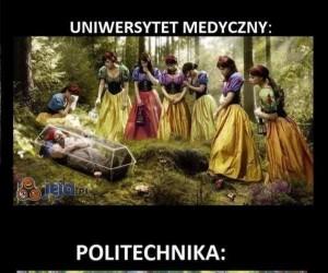 Uniwersytet Medyczny vs Politechnika