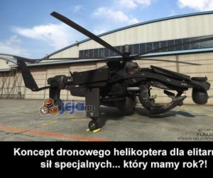 Dronowy helikopter