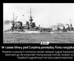 W czasie bitwy pod Cuszimą pomiędzy flotą rosyjską i japońską