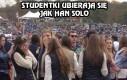 Studentki ubierają się jak Han Solo