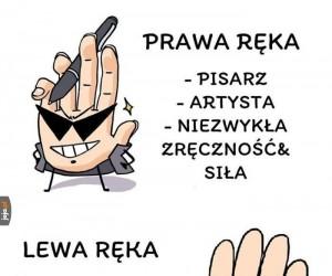 Prawa i lewa ręka