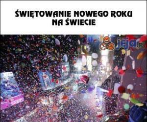Świętowanie Nowego Roku na świecie