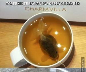 Torebki herbaciane w kształcie rybek