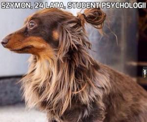 Szymon, 24 lata, student psychologii