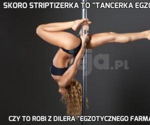 """Skoro striptizerka to """"tancerka egzotyczna"""""""