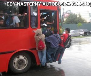 Gdy następny autobus za godzinę...