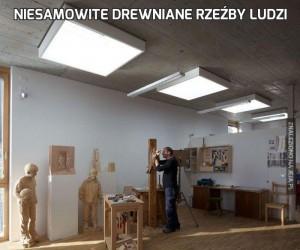 Niesamowite drewniane rzeźby ludzi