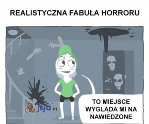Realistyczna fabuła horroru