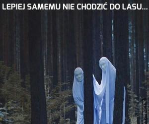 Lepiej samemu nie chodzić do lasu...
