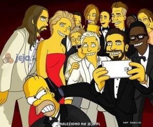 Oskarowa samojebka w stylu Simpsonów