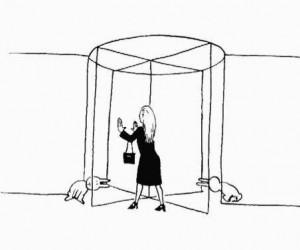 Samobójstwa Zajączka: Drzwi obrotowe