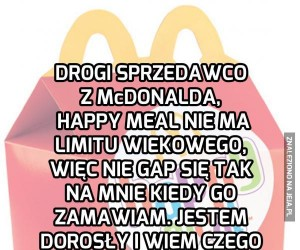 Drogi sprzedawco z McDonalda