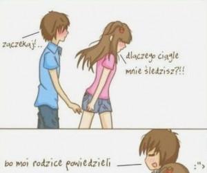 Powód, dla którego chłopak śledzi dziewczynę