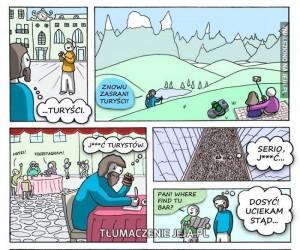 Turyści, ludzka stonka