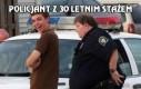 Policjant z 30 letnim stażem