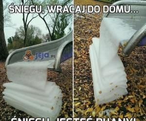 Śniegu, wracaj do domu...