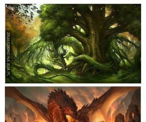 Różne typy smoków