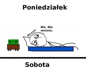 Poniedziałek a Sobota