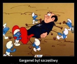 Gargamel był szczęśliwy
