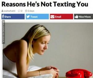 Powody, przez które on do Ciebie nie pisze