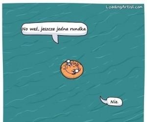 Dryfując w pontonie
