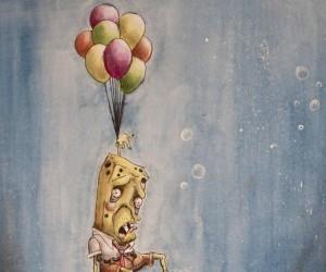 Spongebob pod wodą