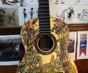 Rysunek na gitarze