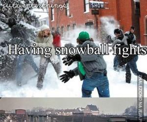 Ach, te bitwy na śnieżki