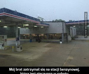 Niebezpieczna stacja benzynowa