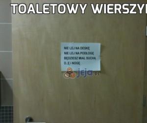 Toaletowy wierszyk