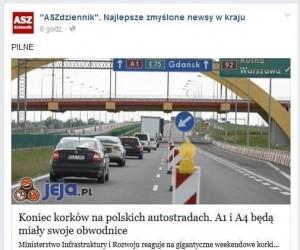 Koniec korków na polskich autostradach!