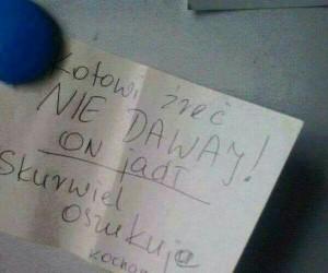 Nie ma to jak stosowna notatka od mamy