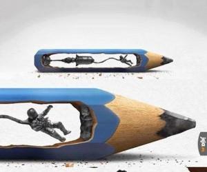 Rzeźba w ołówku