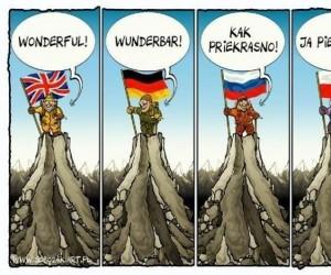 Kiedy różne narody zdobywają szczyt